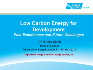 Low Carbon Energy for Development  Past Experiences and Future Challenges