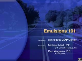 Emulsions 101