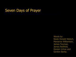 Seven Days of Prayer