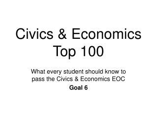 Civics & Economics  Top 100