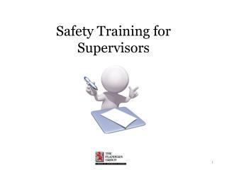 Safety Training for Supervisors