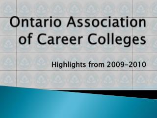 Ontario Association of Career Colleges