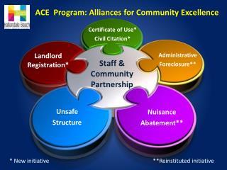ACE   Program: Alliances  for Community Excellence