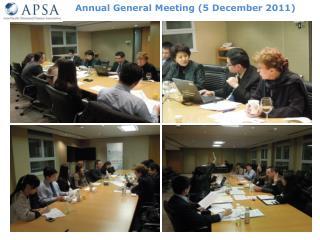 Annual General Meeting  (5 December 2011 )