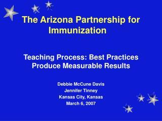 The Arizona Partnership for Immunization