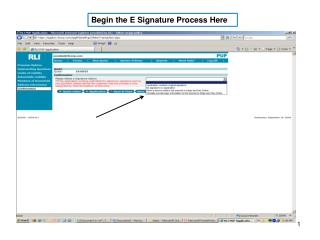 Begin the E Signature Process Here