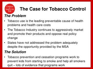 The Case for Tobacco Control