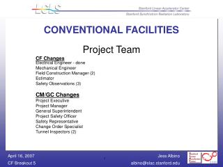 CONVENTIONAL FACILITIES
