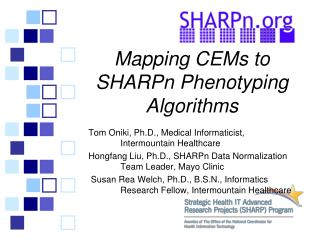 Mapping  CEMs  to SHARPn  Phenotyping Algorithms