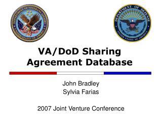 VA/DoD Sharing Agreement Database
