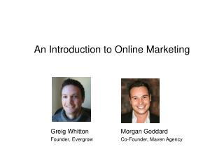 An Introduction to Online Marketing