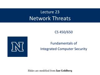 Lecture 23 Network Threats