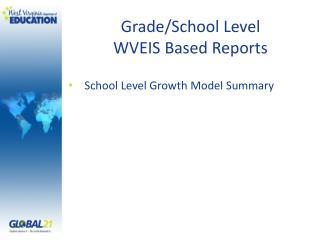 Grade/School Level WVEIS Based Reports