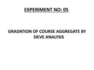 EXPERIMENT NO: 05