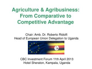 Agriculture & Agribusiness: From Comparative to Competitive Advantage