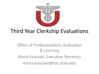Third Year Clerkship Evaluations