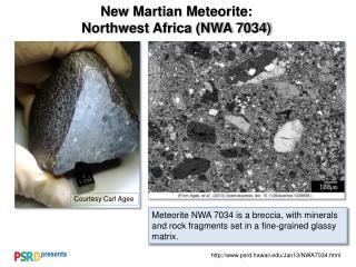 New Martian Meteorite: Northwest Africa (NWA 7034)