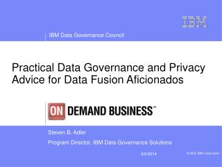 Practical Data Governance and Privacy Advice for Data Fusion Aficionados