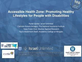 Accessible Health Zone: Promoting Healthy Lifestyles for People with Disabilities