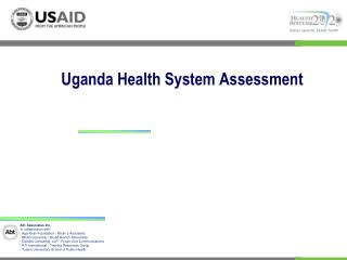 Uganda Health System Assessment