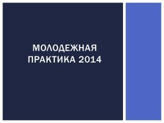 Молодежная практика 2014