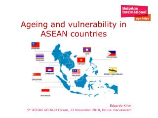 Ageing and vulnerability in ASEAN countries