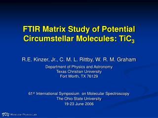 FTIR Matrix Study of Potential Circumstellar Molecules: TiC 3