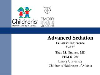 Advanced Sedation Fellows� Conference 9-26-07