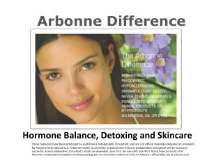 Arbonne Difference