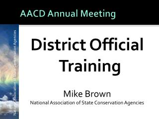 AACD Annual Meeting