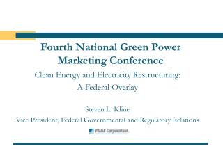 Fourth National Green Power Marketing Conference
