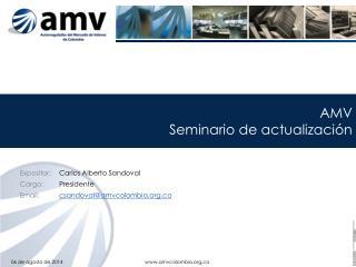 AMV Seminario  de actualización