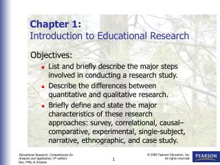 Chapter 1: Introduction to Educational Research