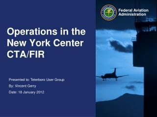 Operations in the New York Center CTA/FIR