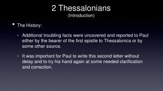 2 Thessalonians (Introduction)