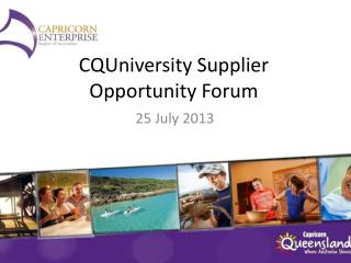 CQUniversity Supplier Opportunity Forum