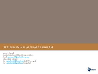 RealSubliminal Affiliate Program