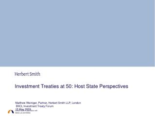 Investment Treaties at 50: Host State Perspectives