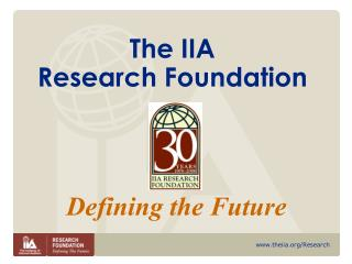 The IIA  Research Foundation