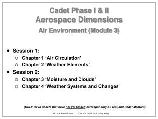 Cadet Phase I & II Aerospace Dimensions Air Environment (Module 3)