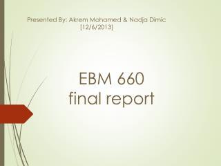 EBM 660 final report