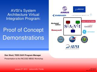 AVSI�s  System Architecture Virtual  Integration Program: Proof of Concept Demonstrations