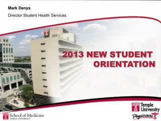 2013  NEW STUDENT  ORIENTATION