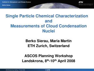 Instrumentation I: Chemical Analysis and Size