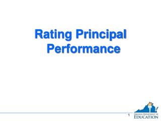 Rating Principal Performance