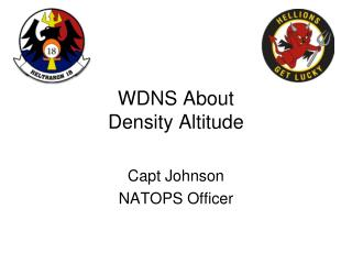 WDNS About Density Altitude