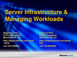 Server Infrastructure & Managing Workloads