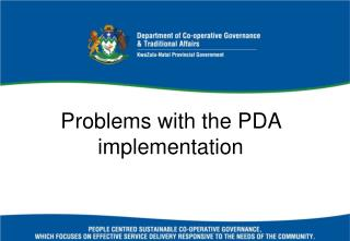 Problems with the PDA implementation