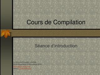 Cours de Compilation