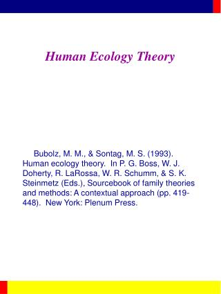 Human Ecology Theory